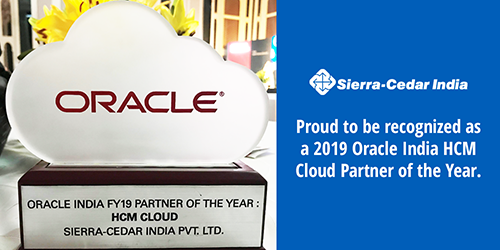 Sierra-Cedar India Wins Oracle India's Partner of the Year Award